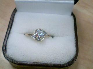 Lady's Diamond Engagement Ring 13 Diamonds .44 Carat T.W. 14K Yellow Gold 2g