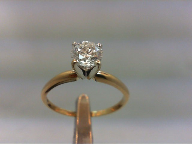 Lady's Diamond Solitaire Ring .79 CT. 14K Yellow Gold 2.04g