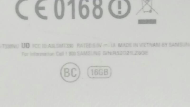SAMSUNG Tablet SM-T330NU