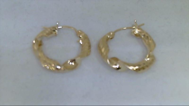 Gold Earrings 14K Yellow Gold 1.8g