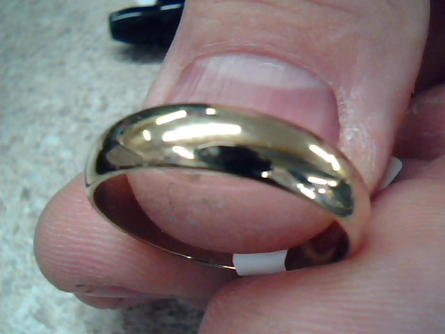 Gent's Gold Wedding Band 14K Yellow Gold 4.2g Size:8.8