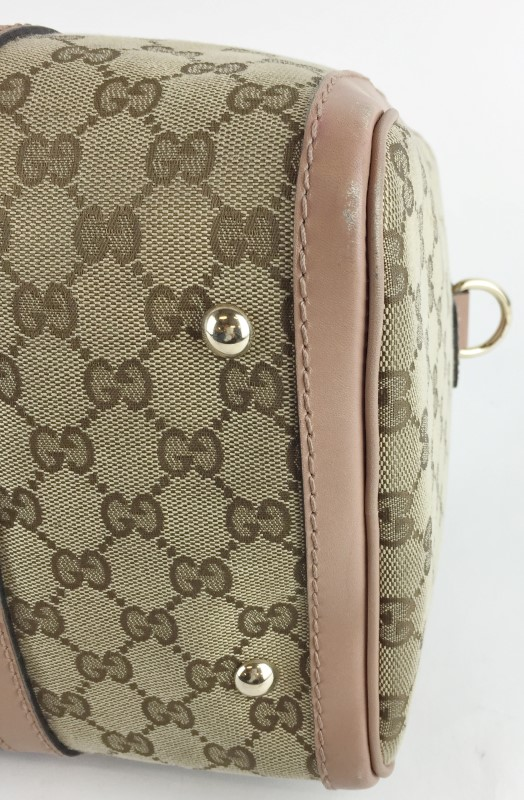 GUCCI WEB ORIGINAL BOSTON BAG 247205 HANDBAG