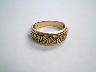 Red Stone Gent's Stone & Diamond Ring 3 Diamonds .06 Carat T.W. 14K White Gold