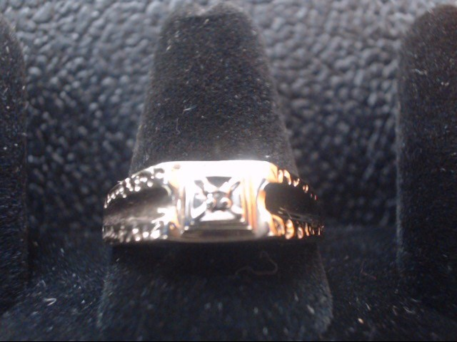 Gent's Diamond Solitaire Ring .01 CT. 10K Yellow Gold 3.6g