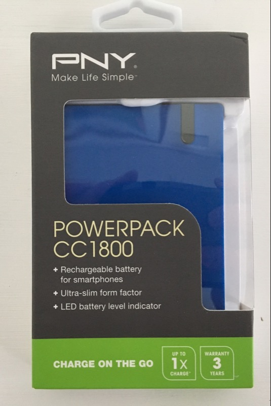 PNY POWERPACK CC1800 NEW IN BOX BLUE