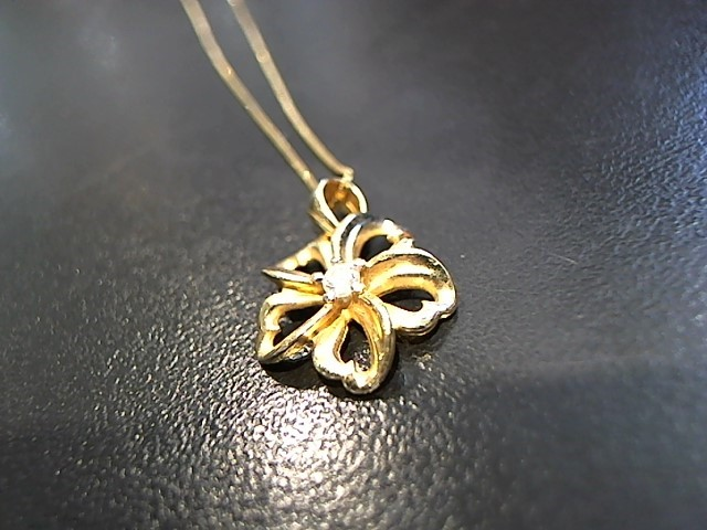 Diamond Necklace .03 CT. 14K Yellow Gold 2.5g