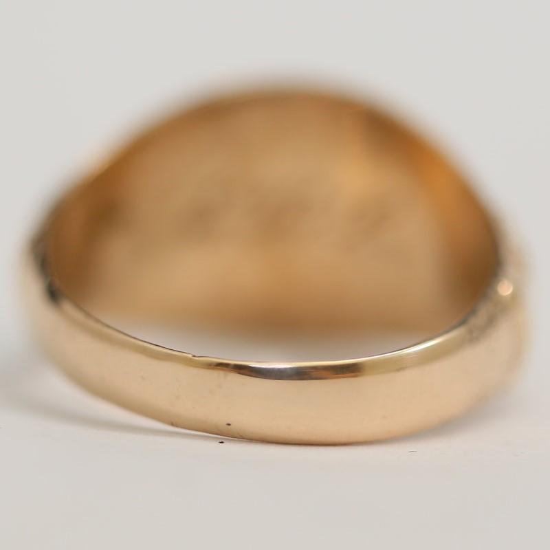 10K Yellow Gold 1931 Fredericksburg High School Ring Size 8.8