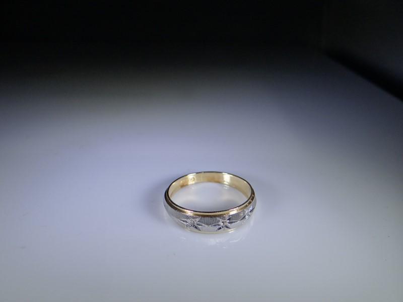 Gent's Gold-Diamond Wedding Band 3 Diamonds .015 Carat T.W. 10K Yellow Gold