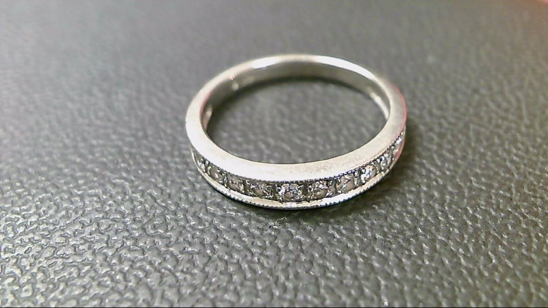 Lady's Diamond Fashion Ring 13 Diamonds .65 Carat T.W. 14K White Gold 2.6g