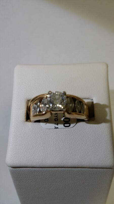 Lady's Diamond Wedding Band 7 Diamonds 1.30 Carat T.W. 14K Yellow Gold 7.8g