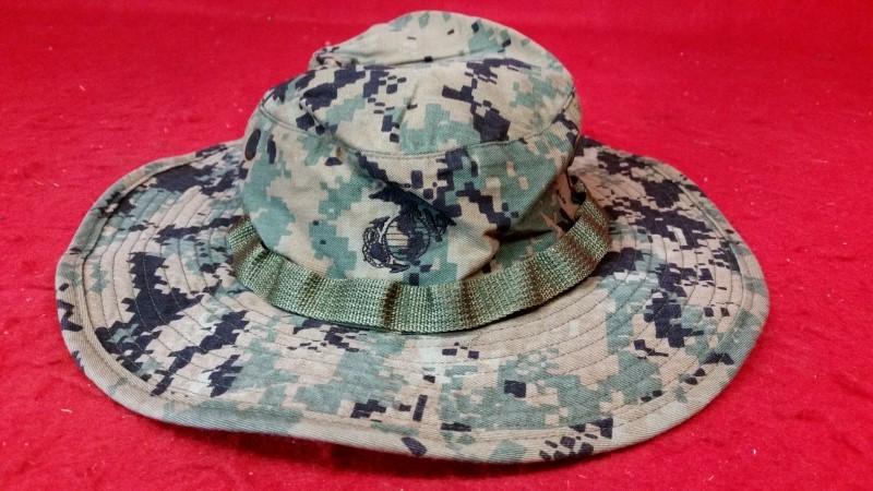 Tru-Spec Wide Brim Woodland Digital Marpat Camo Boonie Hat Ripstop