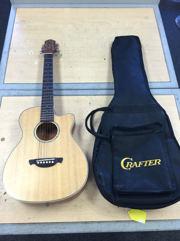 CRAFTER TRV-23 TRAVEL GUITAR W/BAG