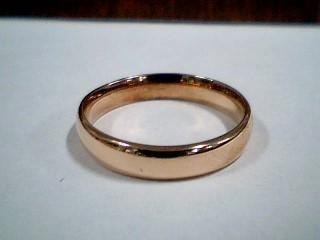 Lady's Gold Wedding Band 14K Rose Gold 1.1g Size:8