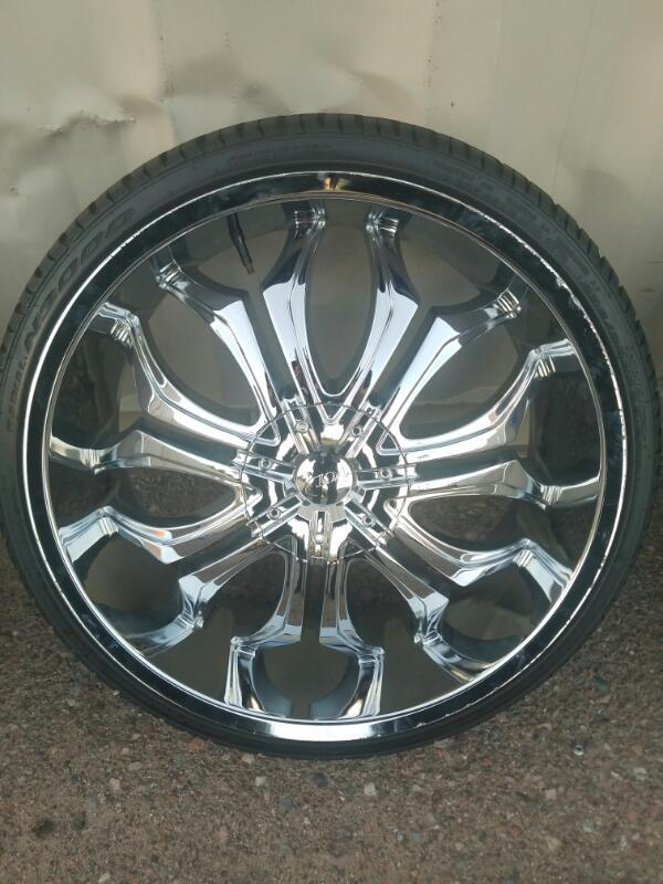 "VCT WHEELS Tire GODFATHER 22"" RIMS"