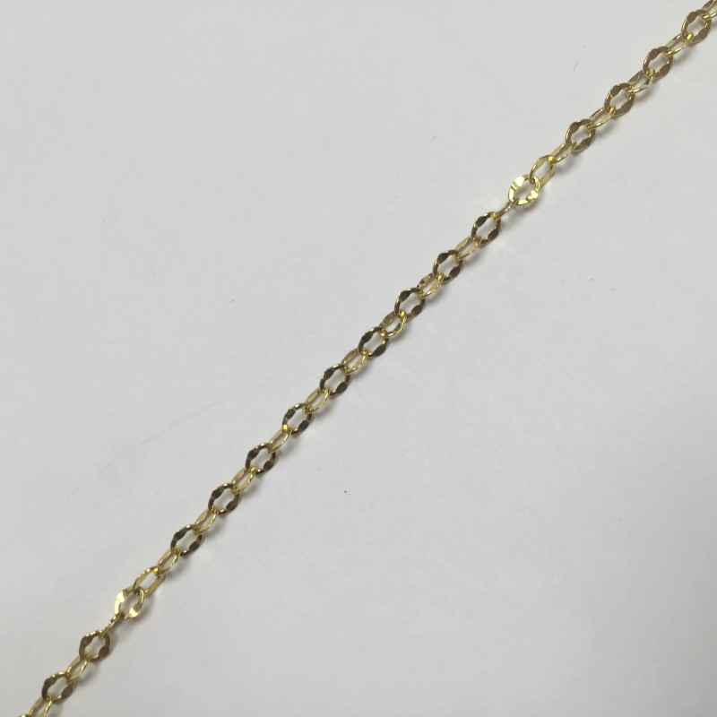 "22"" Gold Chain 10K Yellow Gold 1dwt"