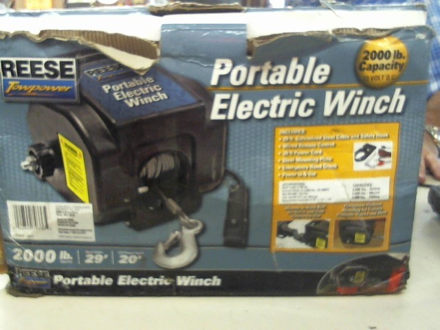REESE Miscellaneous Tool PORTABLE ELECTRIC WINCH