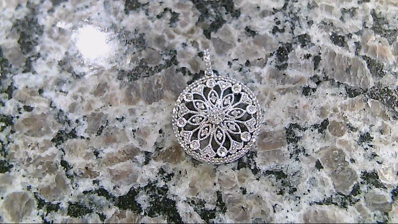 Gold-Multi-Diamond Pendant 102 Diamonds .510 Carat T.W. 14K White Gold 3.3g