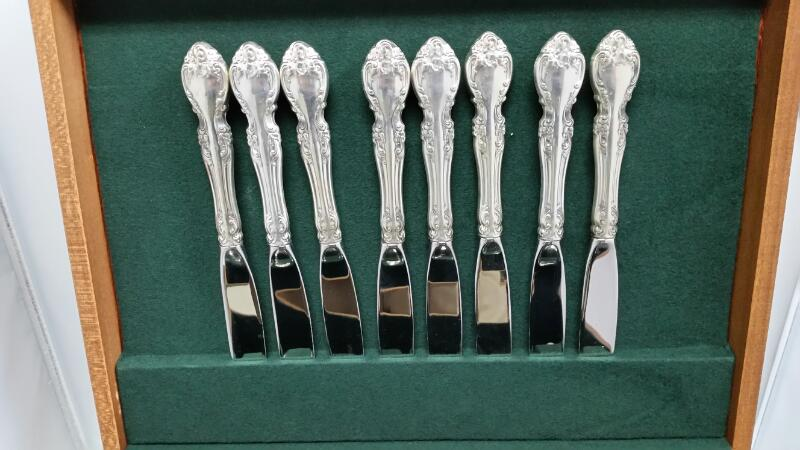 GORHAM STERLING SILVER FLATWARE, 45 PIECES, 8 SERVER SET, MELROSE STYLE