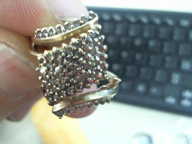 Lady's Diamond Cluster Ring 50 Diamonds .50 Carat T.W. 10K Yellow Gold 3.6g