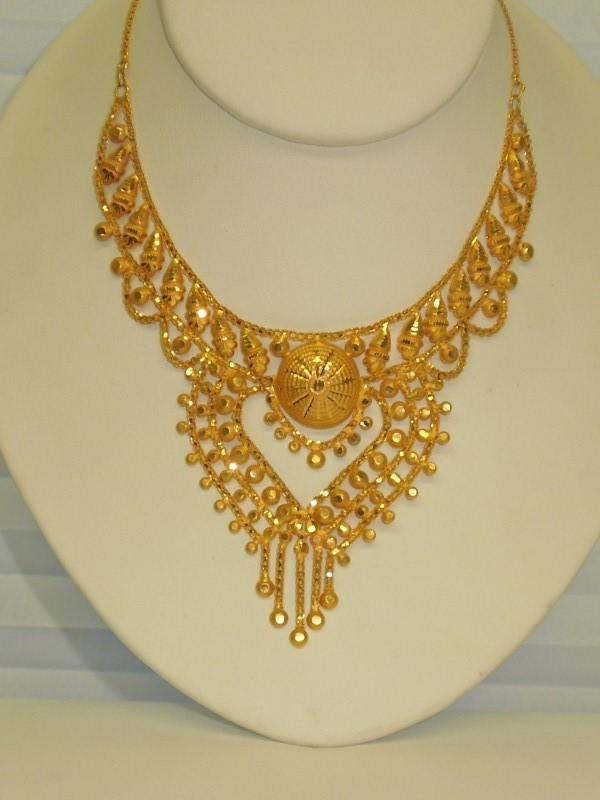 "13"" Gold Fashion Chain 21K Yellow Gold 24.9g"