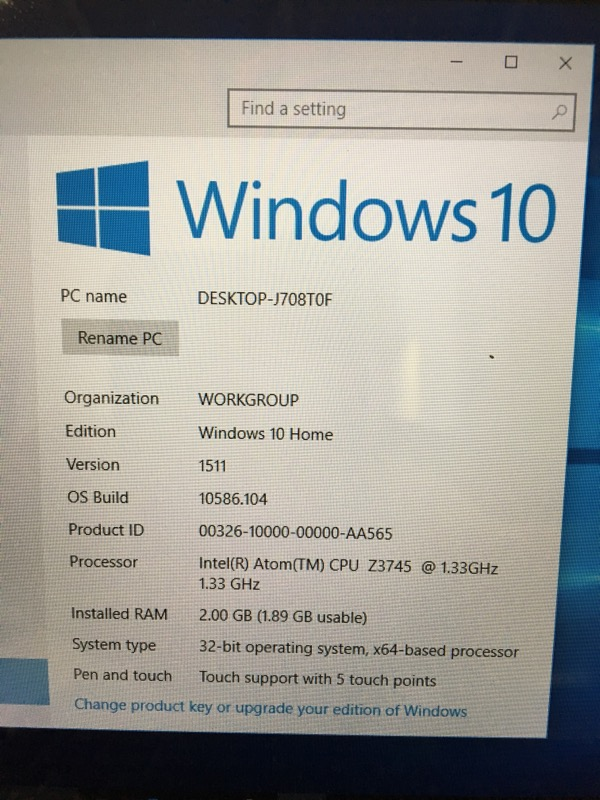 ACER Laptop/Netbook T77H462