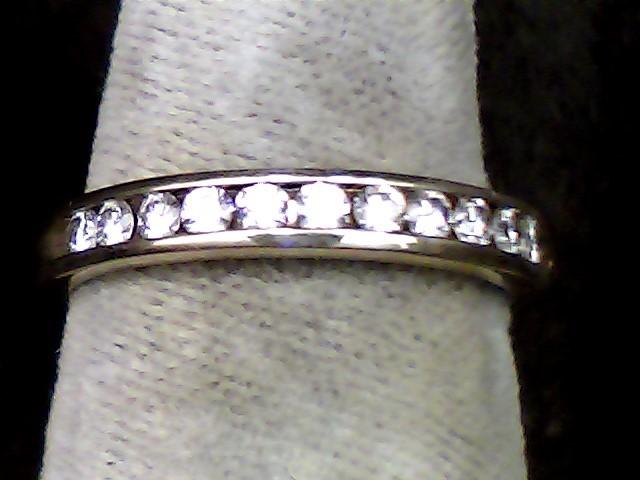 Lady's Diamond Wedding Band 11 Diamonds .22 Carat T.W. 14K Yellow Gold 2dwt
