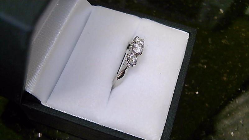 Lady's 14K White Gold PPF Round Diamond Ring