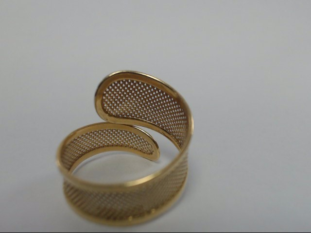 18K Yellow Gold Mesh Wrap Ring 3.16g Size 8