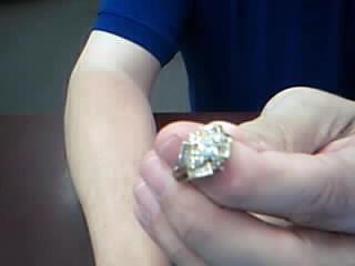 Lady's Diamond Cluster Ring 40 Diamonds .80 Carat T.W. 14K Yellow Gold 5.69g