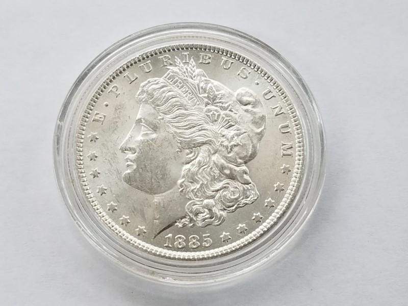1885 MORGAN SILVER $1 (UNC)