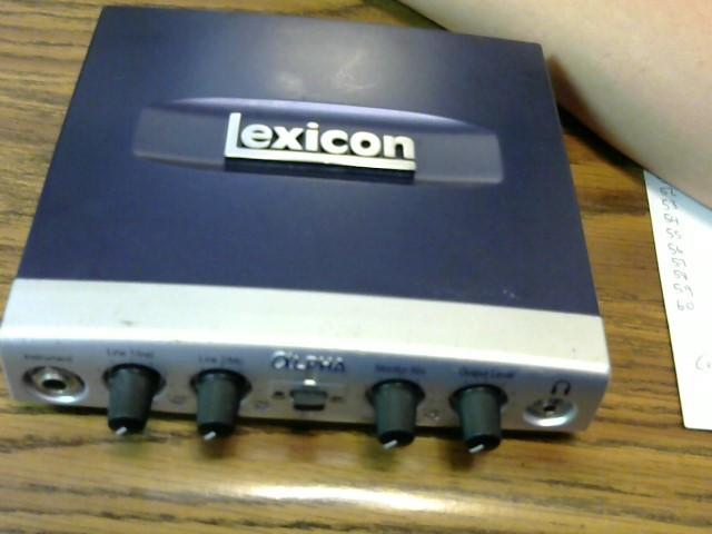 Lexicon LEXALPHAV USB Recording System