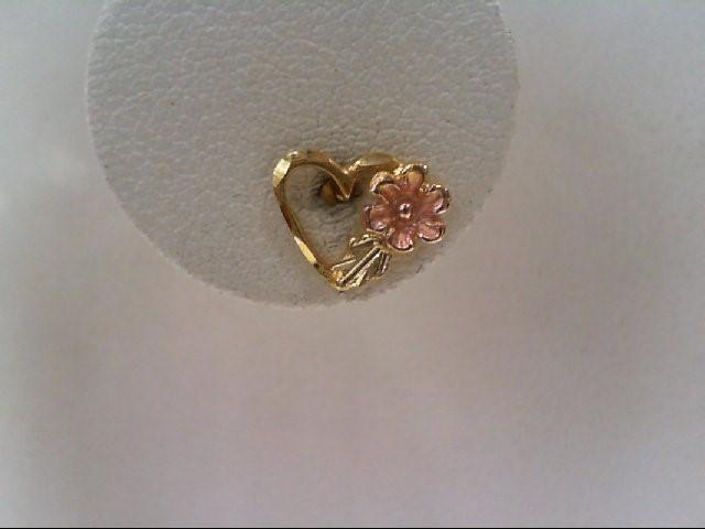Gold Earrings 12K Tri-color Gold 0.9g