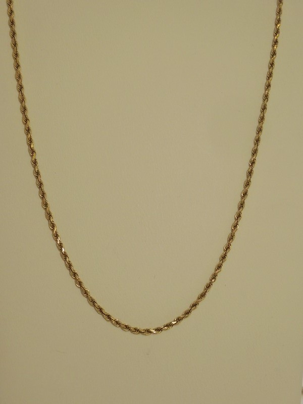Gold Rope Chain 14K Yellow Gold 5.3g