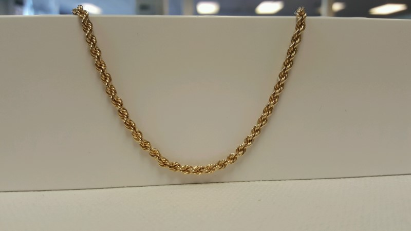 "26"" Gold Rope Chain 14K Yellow Gold 20.1g"