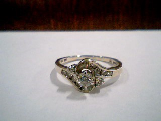 Lady's Diamond Engagement Ring 11 Diamonds .38 Carat T.W. 14K White Gold 2.9g