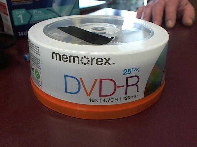 MEMOREX 25PK DVD-R