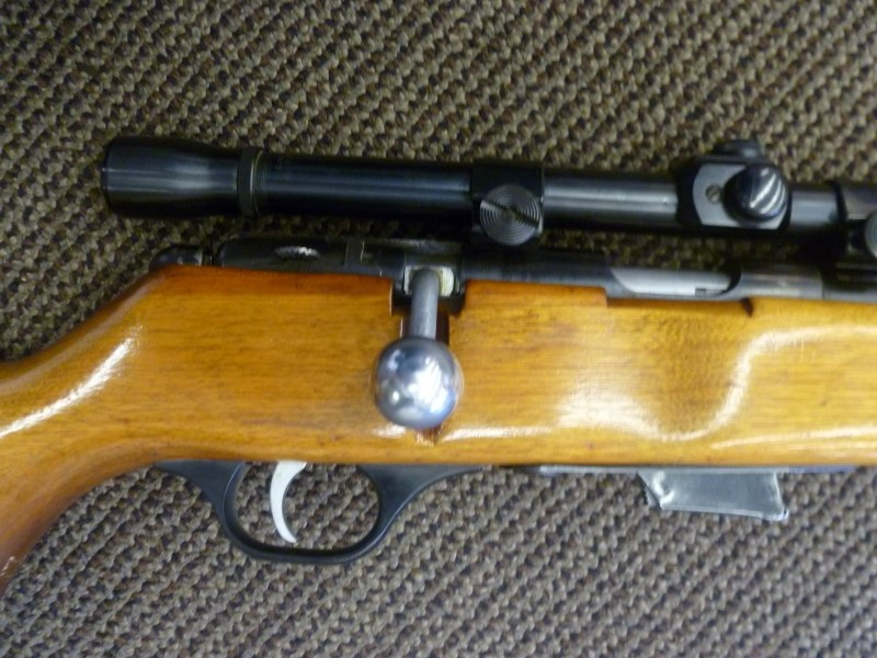 MARLIN 80 - DL .22 S/L/LR RIFLE WITH WEAVER SCOPE AND TWO MAGAZINES