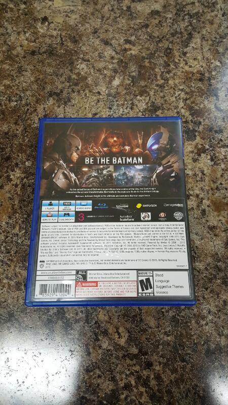 Batman: Arkham Knight (Sony PlayStation 4, 2015) PS4