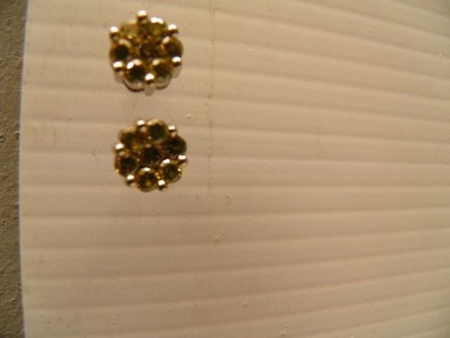 Gold-Diamond Earrings 14 Diamonds .70 Carat T.W. 14K White Gold 3.04g