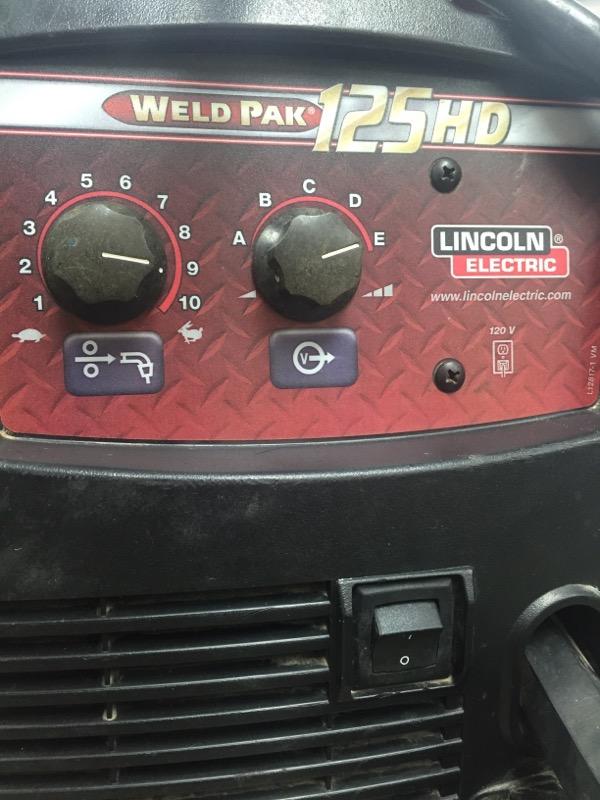 LINCOLN ELECTRIC Wire Feed Welder WELD-PAK 125HD