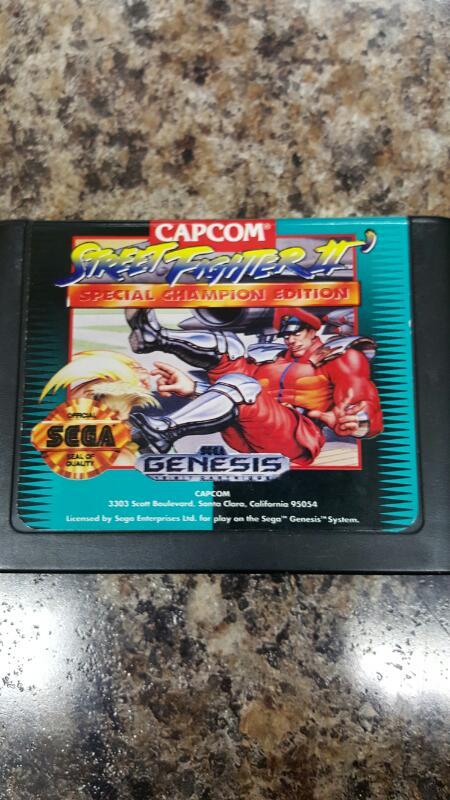 Street Fighter II: Special Champion Edition (Sega Genesis, 1993) & MK II bundle