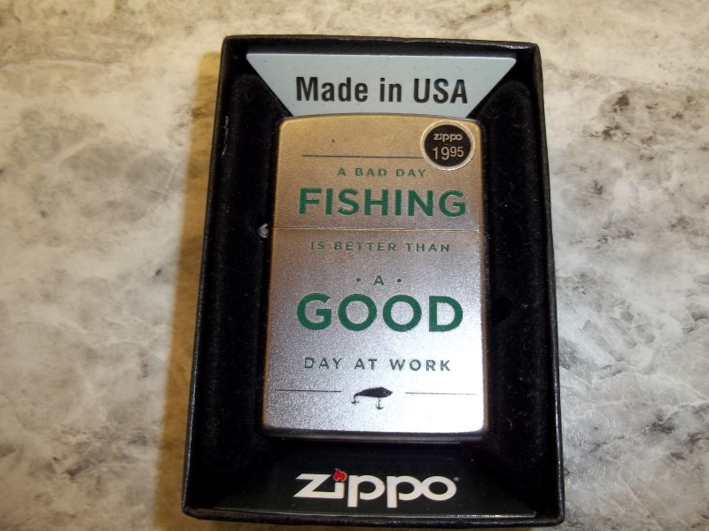 ZIPPO BAD DAY FISHING LIGHTER