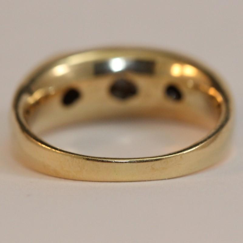 14K Yellow Gold Diamond Fashion Ring Size 10.5