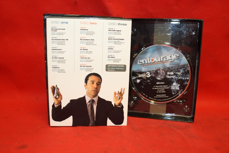 Entourage: The Complete Second Season (DVD, TV-MA, 2006, 3-Disc Set) HBO SERIES