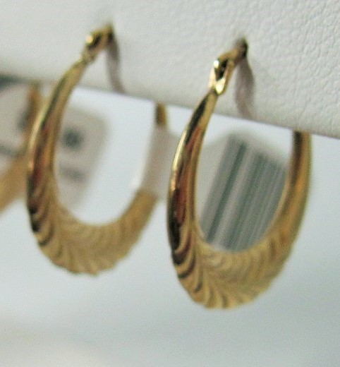 Gold Earrings 10K Yellow Gold 2.06g