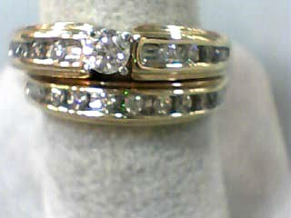 Lady's Diamond Wedding Set 18 Diamonds .54 Carat T.W. 14K Yellow Gold 5.5dwt