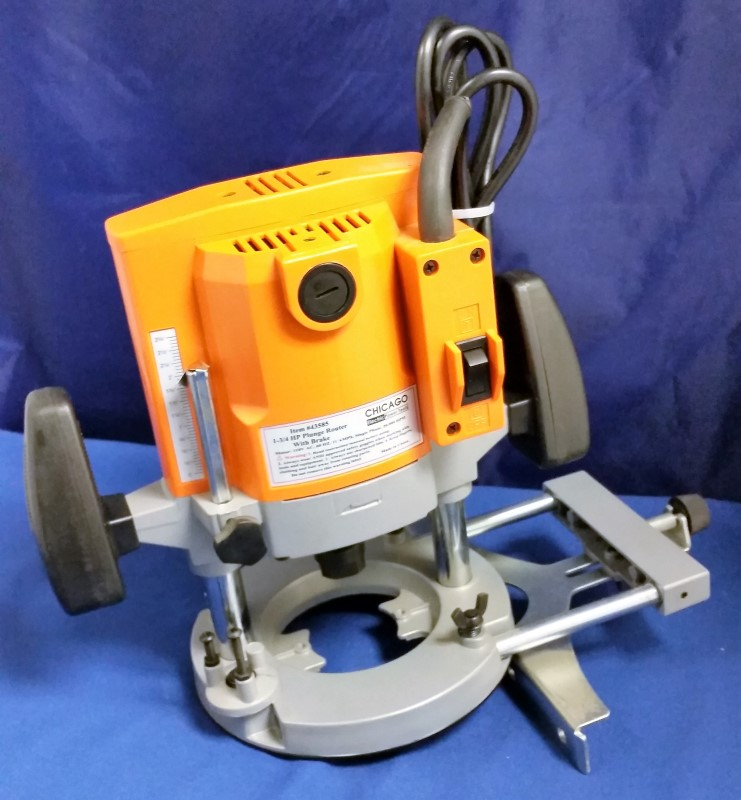 CHICAGO ELECTRIC PLUNGE ROUNTER 43585
