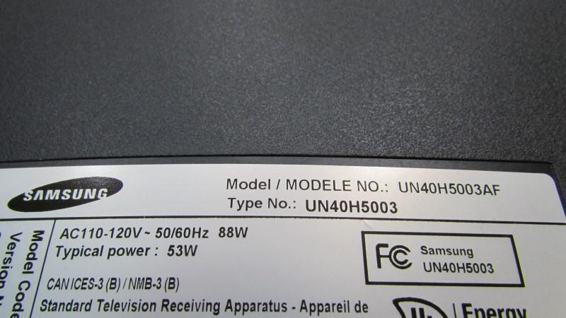 SAMSUNG Flat Panel Television UN40H5003AFXZA
