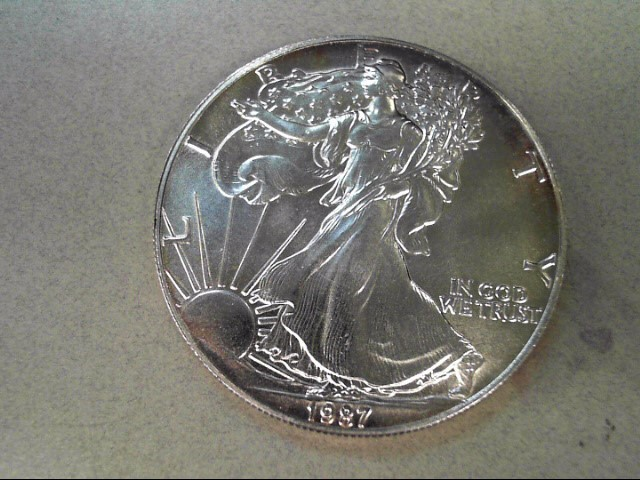 UNITED STATES Silver Coin 1987 SILVER EAGLE DOLLAR