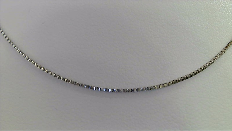 Gold Box Chain 14K White Gold 4.9g